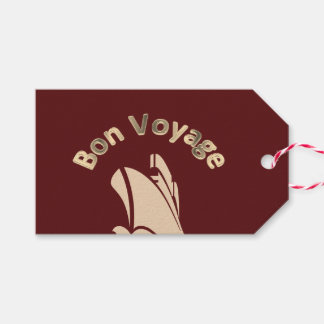 Bon Voyage Cruise Ship Custom Gift Tags