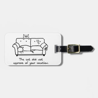 Bon Voyage from the Cat - Funny Cat Luggage Tag