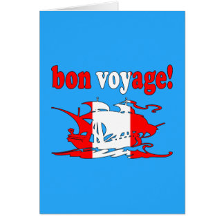 Bon Voyage - Good Trip in Canadian -  Vacations Card