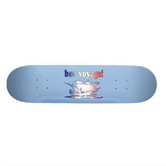 Bon Voyage Good Trip in French Vacations Travel Skate Deck