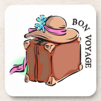 Bon Voyage, have a good trip! Luggage & hat Coasters