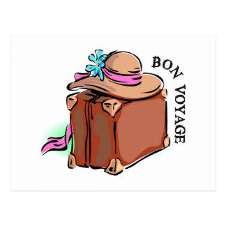 Bon Voyage, have a good trip! Luggage & hat Postcard