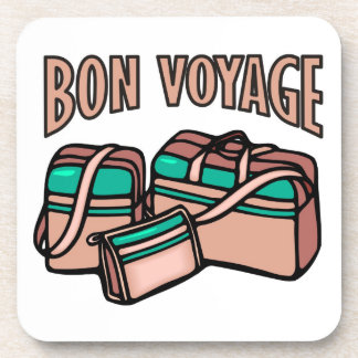 Bon Voyage, have a good trip! Luggage & suitcases Drink Coaster