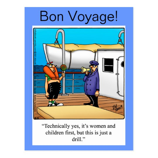 Bon Voyage Humour Postcard