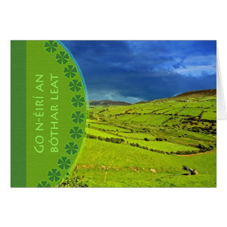 Bon Voyage Irish Gaelic Greeting, Irish Landscape Card