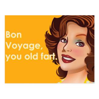 Bon Voyage Old Fart Postcard