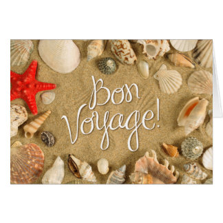 bon voyage! (sea shells) greeting card
