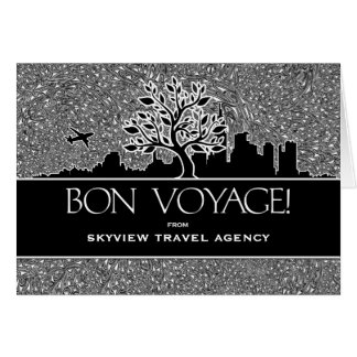 Bon Voyage Travel Agency Business Greeting Greeting Card