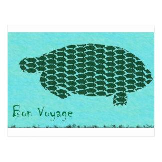 Bon Voyage Turtles Postcard