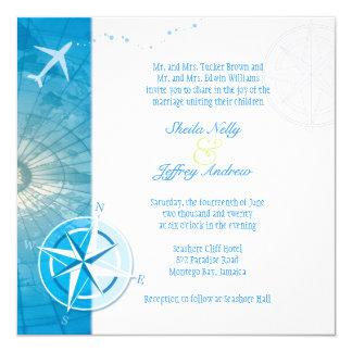 Bon Voyage Unique Wedding Abroad Invitation