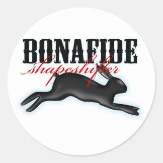 Bonafide Shapeshifter-Rabbit Stickers