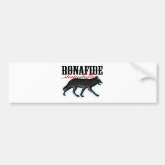 Bonafide Shapeshifter-Wolf Bumper Sticker