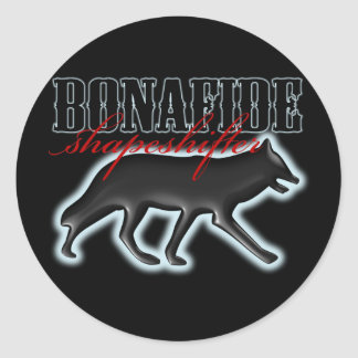 Bonafide Shapeshifter-Wolf Round Sticker