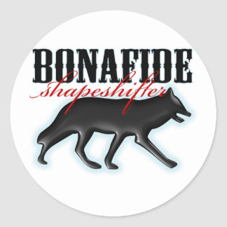 Bonafide Shapeshifter-Wolf Sticker
