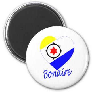 Bonaire Flag Heart Magnet