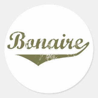 Bonaire Revolution Style Classic Round Sticker
