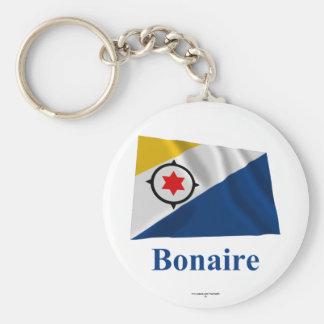 Bonaire Waving Flag with Name Key Ring