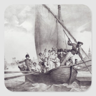 Bonaparte family arriving in Toulon Square Stickers