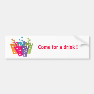 BonBon Party Funky Groove Party Drinks Car Bumper Sticker