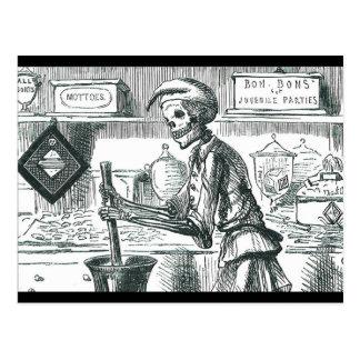 """BonBons for Juvenile Parties"" Evil Pharmacist Postcard"