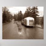 Bond Falls MI Retro Camper Tin Can Sepia Print