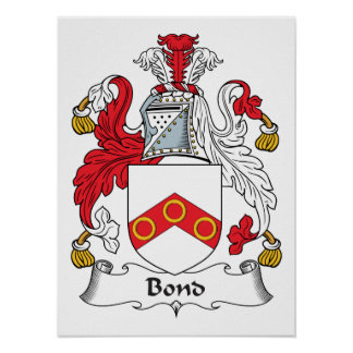 Bond Family Crest Posters