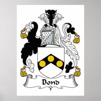 Bond Family Crest Print