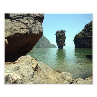 bond island thailand famous touristic landmark photo print