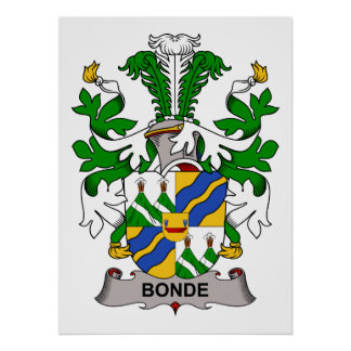 Bonde Family Crest Print