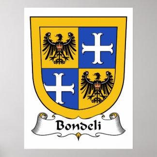 Bondeli Family Crest Poster