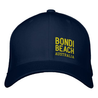 BONDI BEACH AUSTRALIA EMBROIDERED HAT