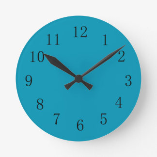 Bondi Blue Color Kitchen Wall Clock