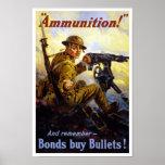 Bonds Buy Bullets -- WWI Poster