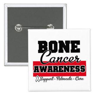 Bone Cancer Awareness 15 Cm Square Badge