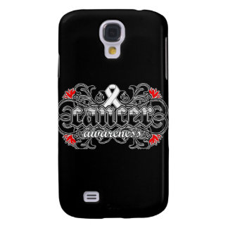 Bone Cancer Awareness Floral Ornamental Galaxy S4 Covers