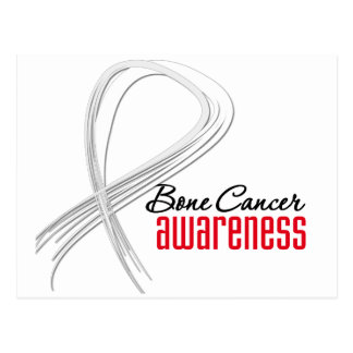 Bone Cancer  Awareness Grunge Ribbon Postcard