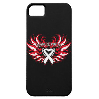 Bone Cancer Awareness Heart Wings Case For The iPhone 5