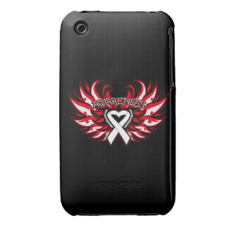 Bone Cancer Awareness Heart Wings iPhone 3 Cases
