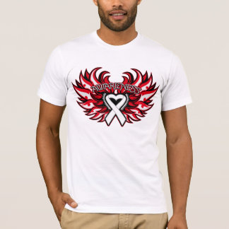 Bone Cancer Awareness Heart Wings.png T-Shirt