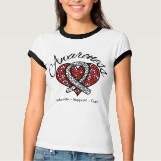 Bone Cancer Awareness Mosaic Heart T-shirts