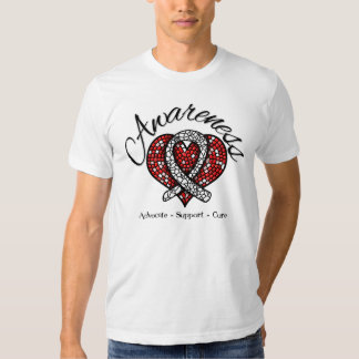 Bone Cancer Awareness Mosaic Heart Tshirt