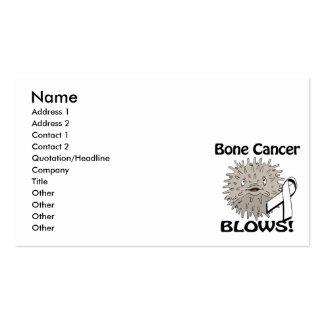 Bone Cancer Blows Awareness Design Business Card