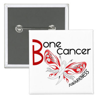 Bone Cancer BUTTERFLY 3 Awareness 15 Cm Square Badge