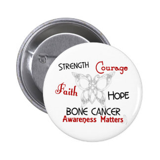 Bone Cancer Celtic Butterfly 3 Pinback Buttons