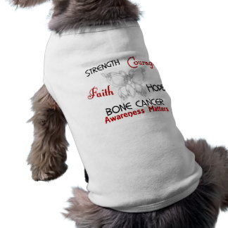 Bone Cancer Celtic Butterfly 3 Dog T-shirt