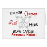 Bone Cancer Celtic Butterfly 3 Greeting Cards