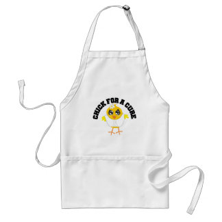 Bone Cancer Chick For A Cure Apron