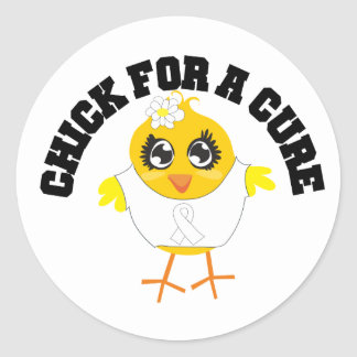 Bone Cancer Chick For A Cure Stickers