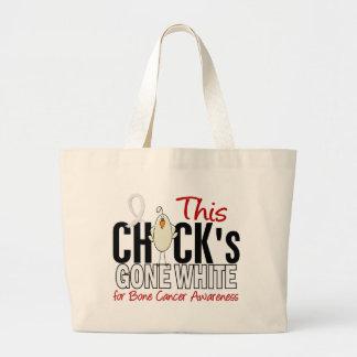 BONE CANCER Chick Gone White Jumbo Tote Bag