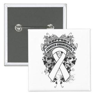 Bone Cancer - Cool Support Awareness Slogan Pin
